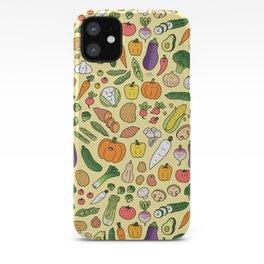 Veggie Friends Doodle iPhone Case