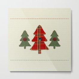 Country Christmas Trees Metal Print