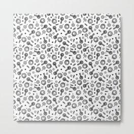 Inductors - Black on White Metal Print