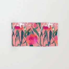 Australian Gumnut Eucalyptus Floral in Dusty Peach Hand & Bath Towel