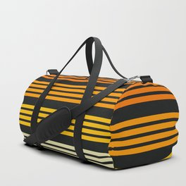 Kagekatsu - Classic Black Orange Retro Stripes Duffle Bag