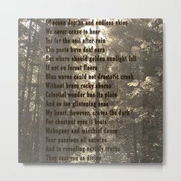Earth and Umber Metal Print