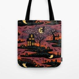 Halloween Night - Bonfire Glow Tote Bag