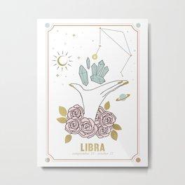 Libra Zodiac Series Metal Print