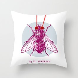 fig. 72 superfly Throw Pillow