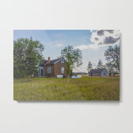 Abandoned House, Fort Clark, ND 1 Metal Print