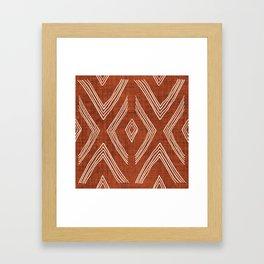Birch in Rust Framed Art Print