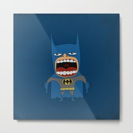 Screaming Batdude Metal Print