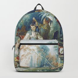Le Jardin Chinois by François Boucher Backpack