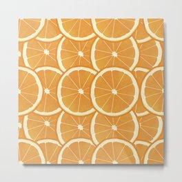 Fresh Orange Slices on repeat Metal Print