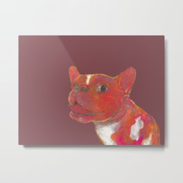 Elvis the French bulldog painting Metal Print
