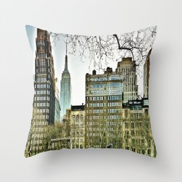 The view from Bryant Park Throw Pillow