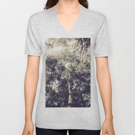 Dappled Light Filtered Through Trees Unisex V-Neck