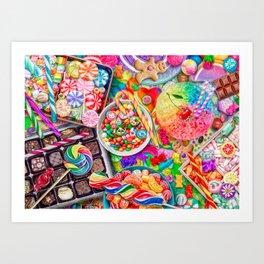Candylicious Art Print