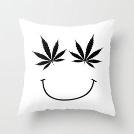 get high on life,natiural herb,Marijuana Botanical , Marijuana Botanical  Throw Pillow