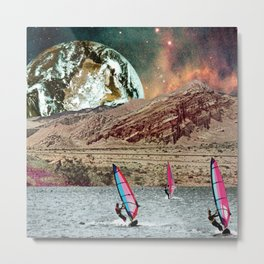 First Annual Mars Windsurf Race Metal Print
