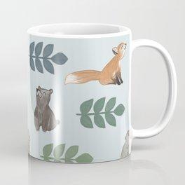 Woodland Creatures Pattern Coffee Mug