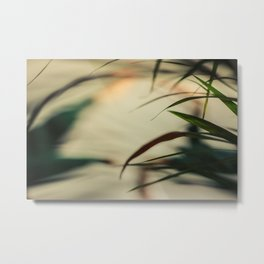 [1] Dancing people, dance, shadows, hands and plants, blurred photography, artistic, forest, yoga Metal Print