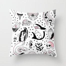 Mermaids Lair Flash Throw Pillow