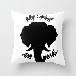 Elephants Are My Spirit Animal - Silhouette Throw Pillow