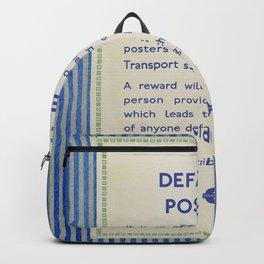 Vintage London Underground Notice Backpack