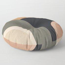 abstract minimal sunrise Floor Pillow