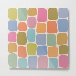 Minimal Blocks - Rainbow Metal Print