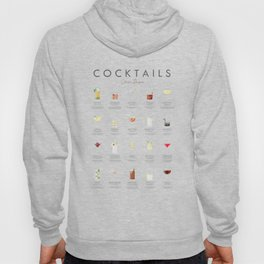 Cocktail Chart - Classic Cocktails Hoody