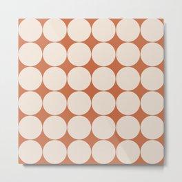 Circular Minimalism - Orange Metal Print