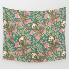 Poinciana Tropical Summer // Hand drawn Pattern Wall Tapestry