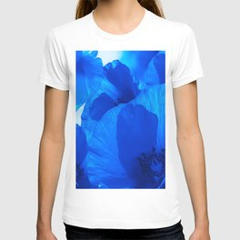 Blue Poppies #decor #society6 #buyart T-shirt