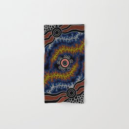 The Heart of Fire - Authentic Aboriginal Art Hand & Bath Towel