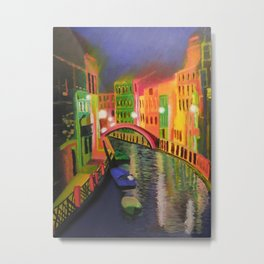 Siskins Venice a la Moi Metal Print