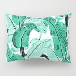 jungle leaf pattern mint Pillow Sham