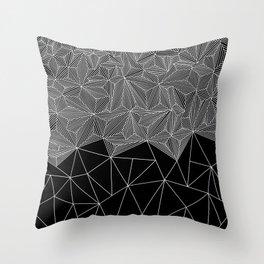 Digital Zentangle Incomplet Dark Throw Pillow