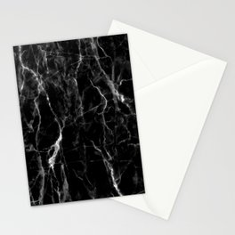 Black marble texture Stationery Cards