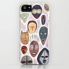 African Inspired Mask Patten iPhone Case