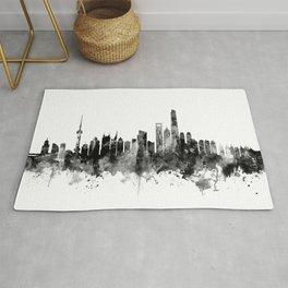 Shanghai China Skyline Rug