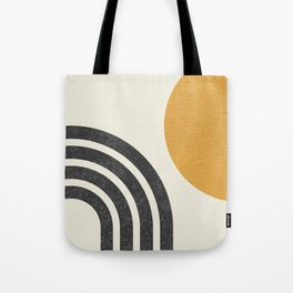 Mid century modern Sun & Rainbow Tote Bag