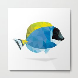 Geometric Abstract Powder Blue Tang Fish Metal Print