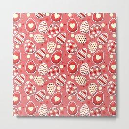 Cute colorful easter egg pattern Metal Print