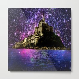 Enchanted castle Island Pink Purple Metal Print