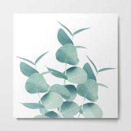 Eucalyptus Leaves Green White #1 #foliage #decor #art #society6 Metal Print