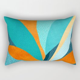 Abstract Tropical Foliage Rectangular Pillow