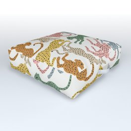 Rainbow Cheetah Outdoor Floor Cushion