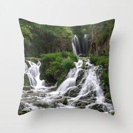 Photos USA Roughlock Falls, Spearfish Canyon, South Dakota Nature Waterfalls Throw Pillow