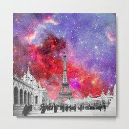 NEBULA VINTAGE PARIS Metal Print