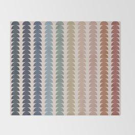 Maude Pattern- Vintage Multicolor Throw Blanket