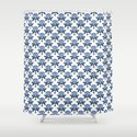 Ajrak Woodblock Floral Print in Blue by beckybailey1