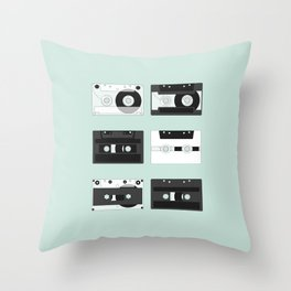 Cassette Pattern #2 Throw Pillow